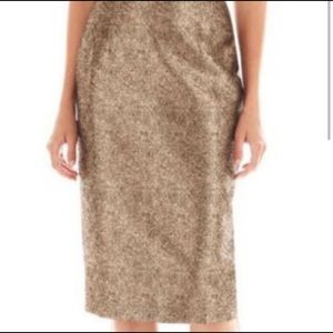 Gold Pencil Skirt, size 6